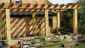 Wooden garden pergola car port