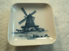 Vtg Royal Copenhagen Porcelain Blue Windmill Trinket Pin Dish 2985-2 985 Denmark