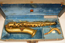 "USED ""THE BUESCHER"" TENOR SAX - TRUE TONE, LOW PITCH MODEL"
