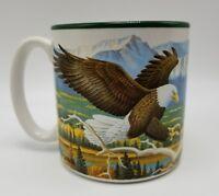 Elk Bald Eagle Potpourri CE Pearson Mountains 1994 Coffee Tea Mug Cup