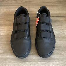 Vans Old Skool V Black Ballistic Leather Men's Size 9