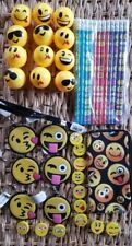 42 Pce. Smiley Face Pencil, Erasers, Key Chains, Carry Bag Fun Set