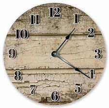 """10.5"""" CRACKLED PAINTED WOOD CLOCK - Large 10.5"""" Wall Clock - Home Décor - 3135"""