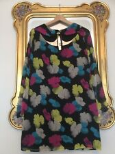 FERN COTTON Bold Print PETER PAN COLLAR Vintage Style DRESS Size 12
