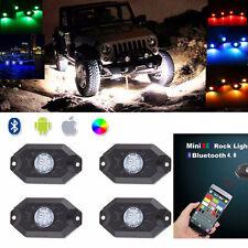 Bluetooth 4.0 LED Boat Interior Marine Deck Lights RGB Changing Accent Pod Kit