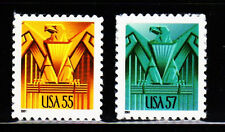 #3471 & 3471A Art Deco Eaglesl - MNH