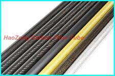 27MM OD x 25MM ID Carbon Fiber Tube 3k 500MM Long  (Roll Wrapped) carbon pipe