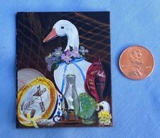 1:12 Scale Original Miniature Painting, Country collection still life of Goose.