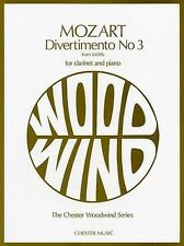 W.A. Mozart: Divertimento No.3 K.439b (Clarinet/Piano) by Chester Music...