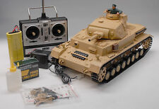 2.4G RC 1:16 Heng Long Panzer IV DAK F1 Airsoft Tank Smoking Remote Control Tank