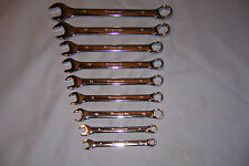 NEW 9 Piece Metric Highly Polished Combo Wrench Set, With Case / Free Shipping