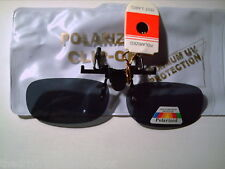CLIP-S ON RX FLIP-S UP POLARIZED GRAY SMALL SUNGLASSES cut glare driving/fishing