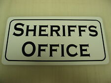 """SHERIFFS OFFICE """"Vintage"""" Metal Sign Marshal Constable"""