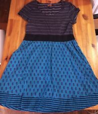 Brooklyn Industries Short-Sleeved Women's Dress, Size 14 (cotton & polyester)