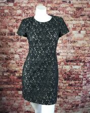 French Connection Black Laced Sheath Dress Size 6