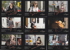 TWILIGHT ECLIPSE  ON THE SET SIGNATURE SET RED RIBBON  SS11 - 20    RARE CARDS