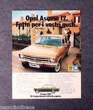 P243 - Advertising Pubblicità -1972- OPEL GM , ASCONA 1200 PER I VOSTRI GUSTI
