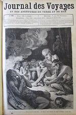 JOURNAL DES VOYAGES N° 68 de 1878 ANTHROPOPHAGES NVELLE CALEDONIE / AEROPHORE