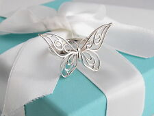 Brand New Tiffany & Co Silver Butterfly Ring Size 5 Box Pouch Ribbon Packaging