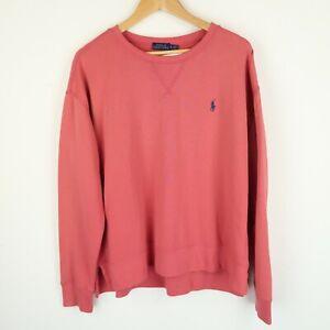 Ralph Lauren Polo Sweatshirt Embroidered chest logo Womens SZ Large (G639)