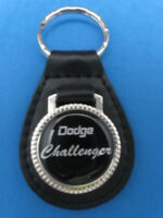DODGE CHALLENGER AUTO LEATHER KEYCHAIN KEY CHAIN RING FOB #195