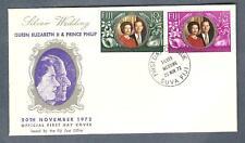Fiji Queen Elizabeth 1972 Silver Anniversary Stamps Sg 474-475 Fdc 20 Nov 1972