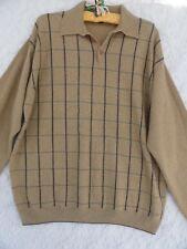 Scott Barber Wool Cashmere Sweater Men s XL Tan Brown Green Vintage MINT 541988993