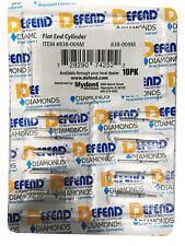 Mydent 838 009m Defend Fg 838009 Round End Cylinder Medium Diamond Burs 10pk