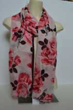Kate Spade New York Rosa Rose Oblong Scarf 100% Viscose Pink Sand New