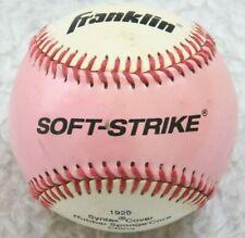Franklin Soft Strike White Pink Baseball Teeball Syntax Cover Rubber Sponge Core