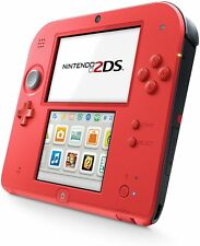 Genuine Nintendo 2DS Crimson Red 2 Handheld Gaming System w/ Charger - VG - GST1