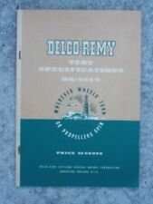 Delco-Remy Test Specifications DR-324S booklet 1950 General Motors Corp.
