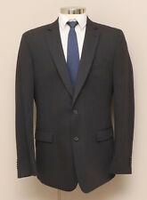 Mens 44Tall Jason Barbaro Grey and Black Stripe 100% Wool Blazer