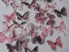 30 **PRECUT** Small Pink Edible Butterflies cake/cupcake/cake pop toppers