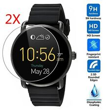 2X 9H Tempered Glass Screen Protector Film Fit For Fossil Q Wander Smart Watch