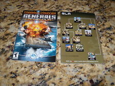 Command & Conquer Generals Zero:Hour manual and insert - no game