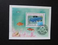 MADAGASCAR 1982 Stamp Scott # 652 Souvenir Sheet, Fish, Cancelled to Order