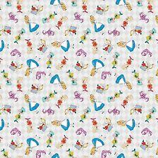 1 yard Disney Alice in Wonderland  Alice & Friends Allover Fabric