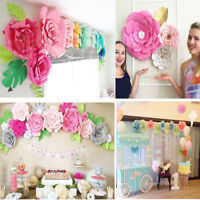20/30cmDIY Paper Flowers Leaves Backdrop Decor Wedding Birthday Party Decoration
