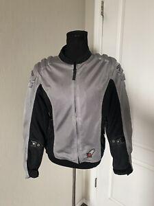 Joe Rocket Racing Women's Armored Padded Motorcycle Jacket Large Gray Black Mesh