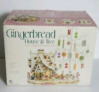 Costco Gingerbread Lighted House Large Bendable Tree Candy Ornaments Christmas