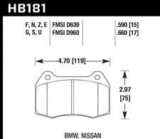 Hawk Disc Front Brake Pad for 97-02 Ferrari 550 Maranello # HB181F.660