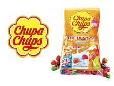 CHUPA CHUPS THE BEST OF SELECTION 120 LOLLIPOPS FRUIT MILK & COLA FLAVOURS MIXED