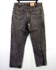 vtg 80s Levis 540 Relaxed Fit Men's Black Gray Acid Wash Denim Jeans USA 38 X 32