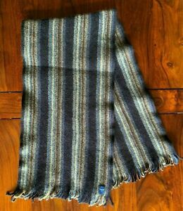 Fumagalli 1871 - Men's Italian Wool Scarf - Pure Italian Wool - Striped Design