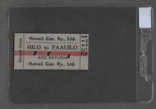** 1945 Original Hawaii Consolidated Railway Ticket (Rare MINT Beauty) *** P1213