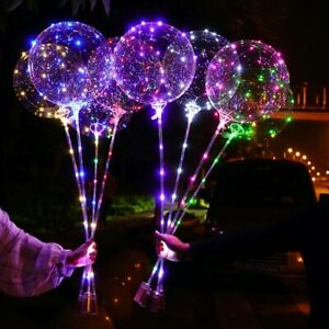 10 Packs Christmas LED Light Up BoBo Balloons Decoration Indoor or Outdoor