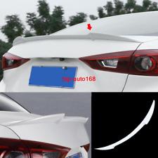 Pearl white Rear Trunk Spoiler Boot Lip Wing trim For Mazda 3 Sedan 2014-2018