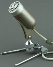 VINTAGE SHIELD M-120 CRYSTAL MICROPHONE WITH STAND RCA PLUG CONNECTION