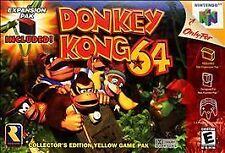 Donkey Kong 64 (Nintendo 64, 1999) AUTHENTIC Yellow Cartridge N64 TESTED Kid N64